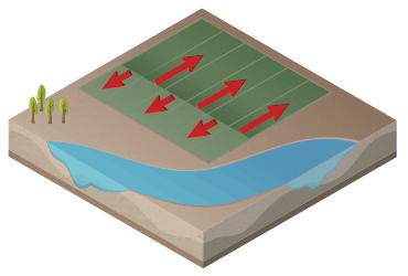 Pivô linear para irrigação